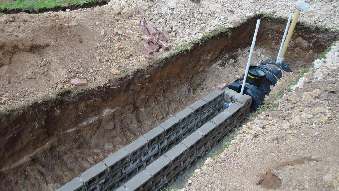 Soak-away system built at Project Miller site.